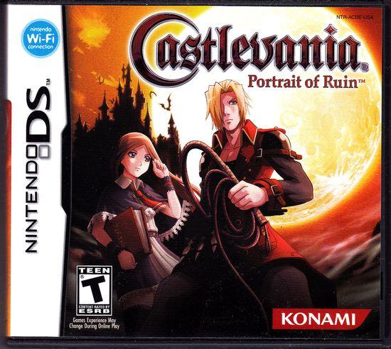 Nintendo DS Castlevania Portrait of Ruin Front Cover